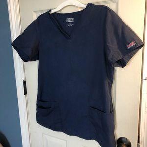 Navy blue Cherokee scrub top 🌸